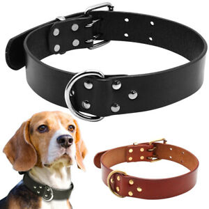 Didog Genuine Leather Dog Collar Real Leather Dogs Collars With Durable D Ring
