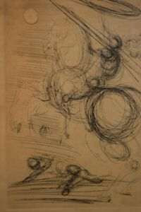 Unsigned Salvadore Dali Etching of Don Quixote $295.00