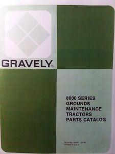 Gravely 8102 8177 8122 8123 8126 8162 8166 Riding Garden Tractor Parts Manual