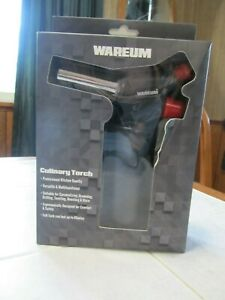 Wareum  Culinary Refillable Adjustable Butane Kitchen Torch Lighter - Nib
