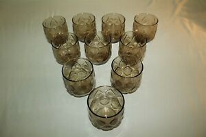 10 Mid Century Modern Vintage Charcoal On The Rocks Glasses 3