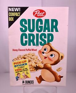 Vintage 1960s Post Sugar Crisp Cereal Box Kids Food Advertising Pick-up Sticks
