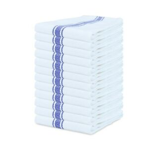 12 Pack of Striped Kitchen Tea Towels - Dish Towels - 15 x 25 in - Color Options
