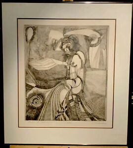 Amazing Vintage Abstract Expressionist Etching Signed Illegibly amp; Numbered 15 20 $375.00