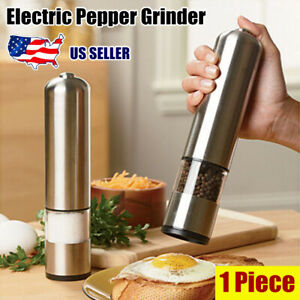 2020 New Electric Salt Pepper Spice Sauce Stainless Steel Mill Grinder w/ Light