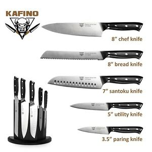 5 PCS Kitchen Knife Set Chefs knife German Stainless Steel with G10 Handles