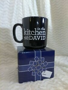 New In The Kitchen With David 16 oz Mug Cup with Gift Box Dark Blue