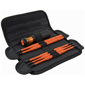 Klein Tools 32288 8 in 1 Insulated Interchangeable Screwdriver Set $49.98