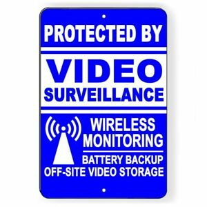 Warning Security Property 24 Hour Video Surveillance CCTV Cameras Sign Or Decal