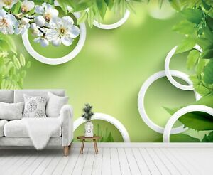 3D Green Leafy PKE460 Business Wallpaper Wall Mural Self adhesive Commerce Kay