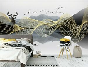 3D Ink Mountains PKE567 Business Wallpaper Wall Mural Self adhesive Commerce Kay