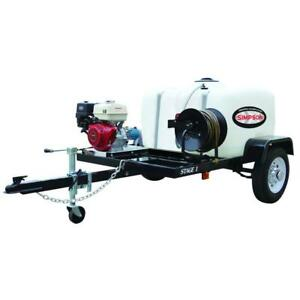 Simpson 3200 PSI Plunger Pump Cold Professional Gas Pressure Washer Trailer