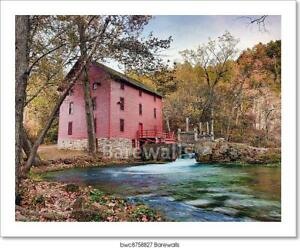 Alley Spring Mill House Art/Canvas Print. Poster, Wall Art, Home Decor - O