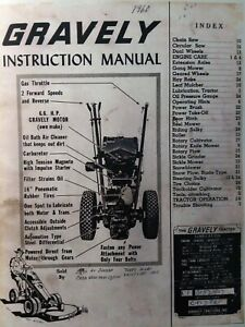 Gravely L LI LS 1960 Walk-Behind Lawn Garden Tractor Owner & Parts Manual