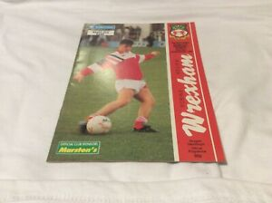 Wrexham v Burnley Barclays League Division 4 November 1990