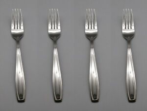 Oneida Stainless Flatware BRISTOL (GLOSSY) Dinner Forks - SET OF FOUR *