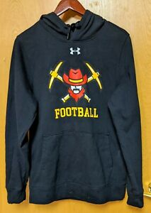 Under Armor cold gear football design black hoodie Size Small $9.99