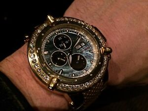INVICTA #5541 SUBAQUA NOMA III DIAMOND SWISS VALJOUX 7750 AUTOMATIC 25 JEWEL LE.