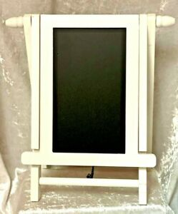 Black Chalkboard Wood Easel Free Standing & Reversible Boards - New