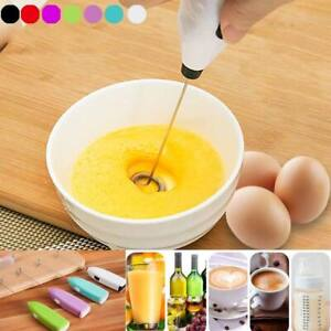Drinks Milk Frother Whisk Mixer Egg Beater Electric Mini Handle Cooking Tools