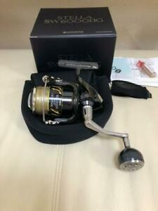 Shimano 13 Stella 6000HG Spinning Fishing reel wLine &box&case good condition