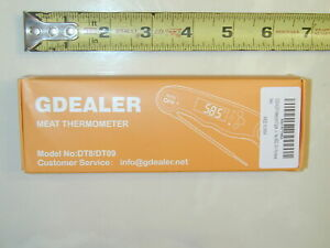 """GDEALER DT9 Waterproof Digital Instant Read Meat Thermometer with 4.6"""" Folding"""