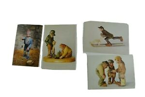 Arne Aas Vtg Norway Postcard Nisse Norwegian Gnome Wood Carved Figures Elf Lot