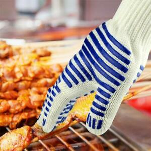 Heat Resistant Silicone BBQ Gloves Cooking Grill Barbecue Kitchen Oven Mitt