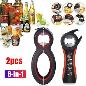Multi All In One 6in1  jar Bottle Opener Kitchen Can Cap Lid Twist Off Automatic