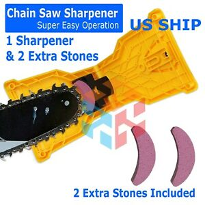 Chain Saw Teeth Sharpener Bar-Mount Professional Woodworking Sharpening Tool Kit