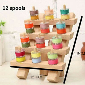 Sewing Thread Rack Organizer Wall Mount Cone Embroidery Crafts Sewing Holder QK $13.01