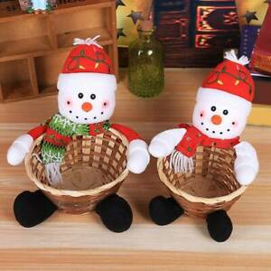 Party Xmas Gift Merry Christmas Eco-Friendly Holder Baby Santa Claus Basket SL