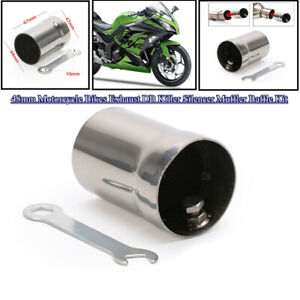 48mm Stainless Motorcycle Exhaust DB Killer Silencer Muffler Baffle Accessories $19.49