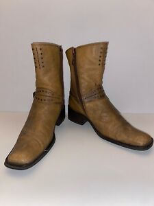Authentic Harley Davidson Zip Side Boots Women#x27;s Size 8