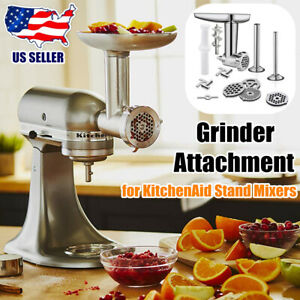 Meat Grinder Attachment for KitchenAid Stand Mixers W/Sausage Stuffer Accessory