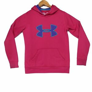 Under Armour Storm Women's Pink Purple Logo Pullover Hoodie Size XS $16.94