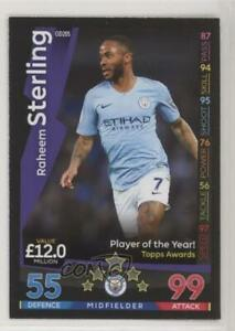 2018 Topps Match Attax English Premier League On Demand Raheem Sterling #OD205 $2.55