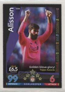 2018 19 Topps Match Attax English Premier League On Demand Alisson #OD201 $2.55