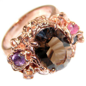 Smoky Topaz Ring size: 8 925 Sterling Silver Free Shipping by SilverRush Styl $59.90