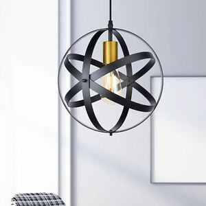 Pendant Light Fixture Plug-in Cord with On/Off Switch Black Hanging Light 1Light