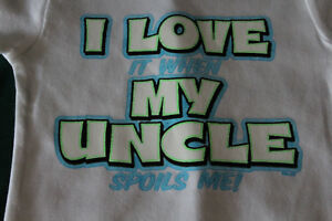 I LOVE it when MY UNCLE funny t shirt tee boy girl graphic youth clothes novelty