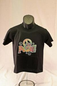 peace sign embroidered funny t shirt tee graphic novelty new girl youth clothes