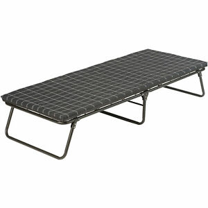 Folding Camping Cot With Sleeping Pad For Outdoor Trip Travelling Camp Site New