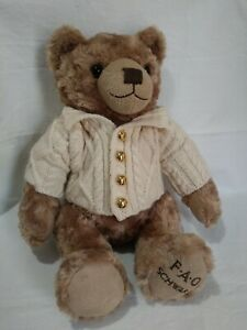 FAO Schwarz Bear Plush 12 Sitting. B13 $6.49