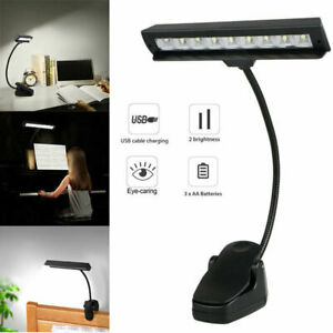 Flexible USB Clip-On Music Piano LED Light Reading Study Book Lamp Furniture