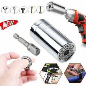 7mm to 19mm Grip Universal Socket Wrench Spanner amp; Power Drill Adapter Set Tool $6.37