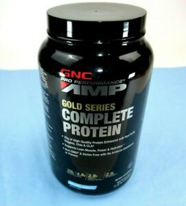 CLEARANCE GNC AMP Gold Series COMPLETE PROTEIN 2.58lb VANILLA Ex 8 19 Sealed $8.95