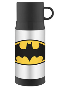 New Thermos Funtainer 12 Ounce Warm Beverage Bottle, Batman