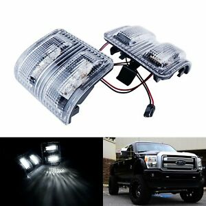 For Ford F250 F350 F450 08 Clear Lens Side Mirror Marker LED Signal Light Lamps $23.88