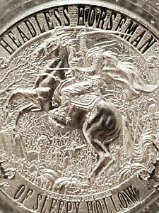Headless Horseman 1 oz .999 Silver Coin Sleepy Hollow NY Ghost troubled spirits